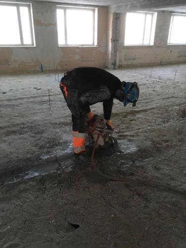 Распиливание соединительной шахты