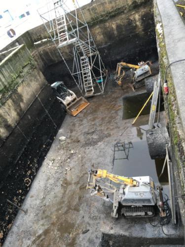 Демонтаж стен ёмкости для сточных вод